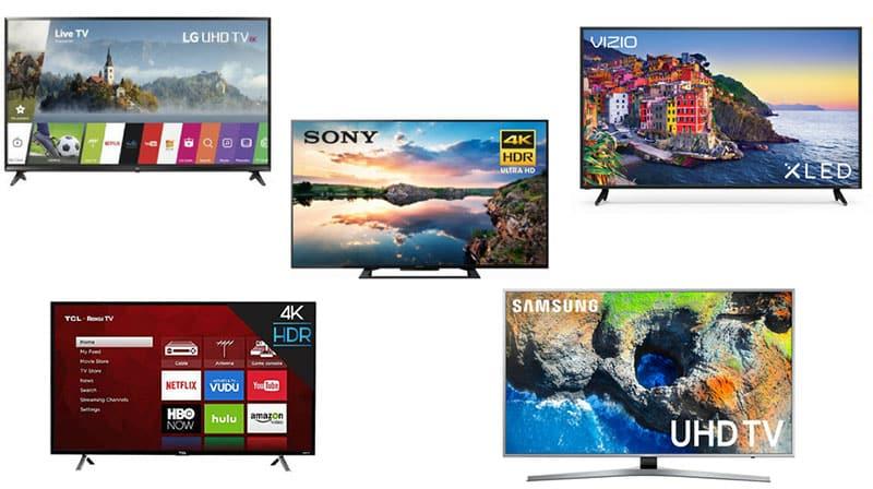 comprar televisores de las marcas Samsung, LG, Sony, AOC, Hisense, Nex y Daewoo