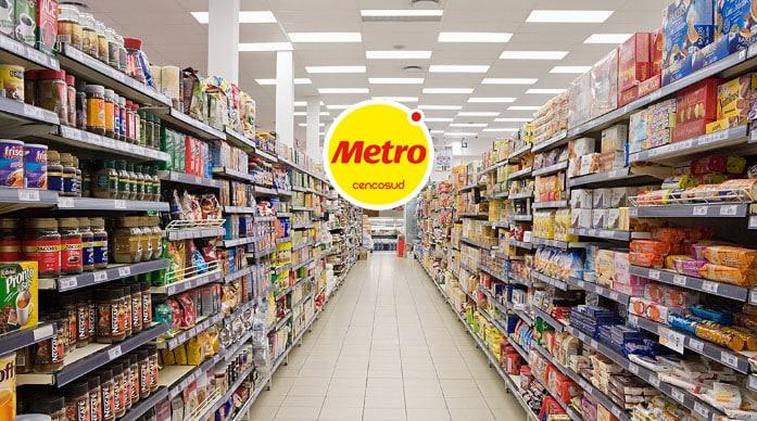 gondola con todos los productos metro
