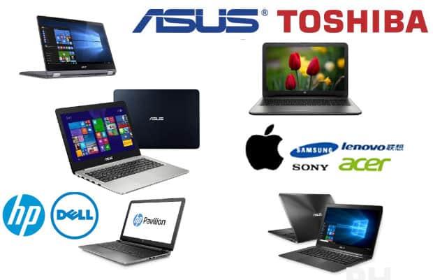 precio de marcas de laptops Asus, Apple, Msi, Lenovo, Hp y Samsung