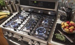 cocina a gas moderna