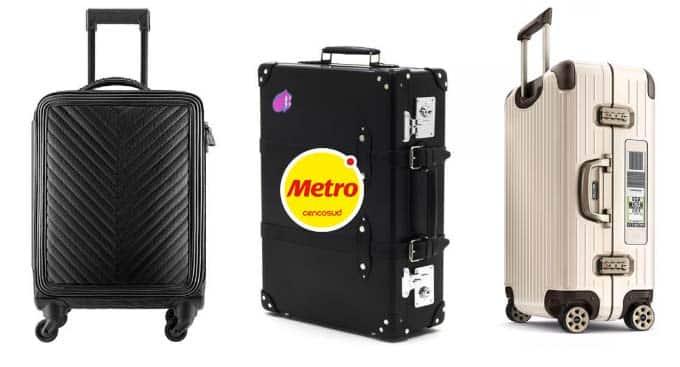 metro puedes comprar Maletas Semirrígidas, Rígidas, Mochilas o Bolsos
