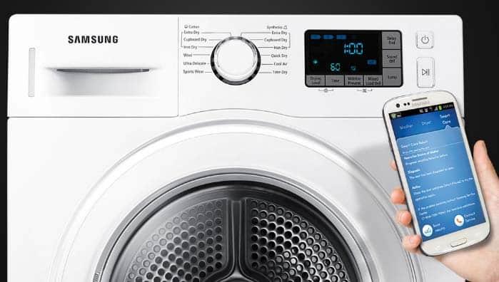 lavadora con conexion app control con celular