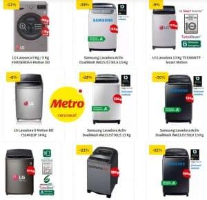 lavadoras baratas en tiendas metro