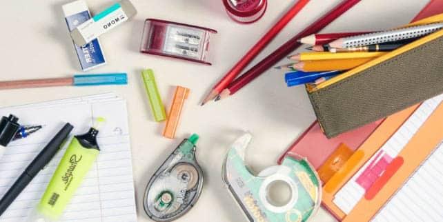 utiles escolares para la vuelta al cole
