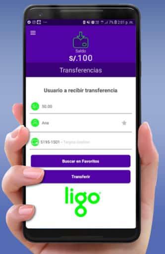 transferencia de dinero con la app ligo