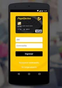 aplicación para ver saldo, movimientos, transferencias de la tarjeta pagoefectivo