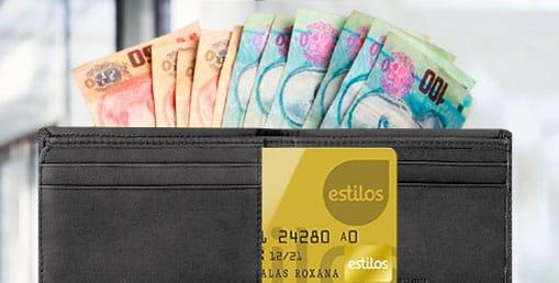 retiro efectivo con tarjeta estilos y CREDICASH