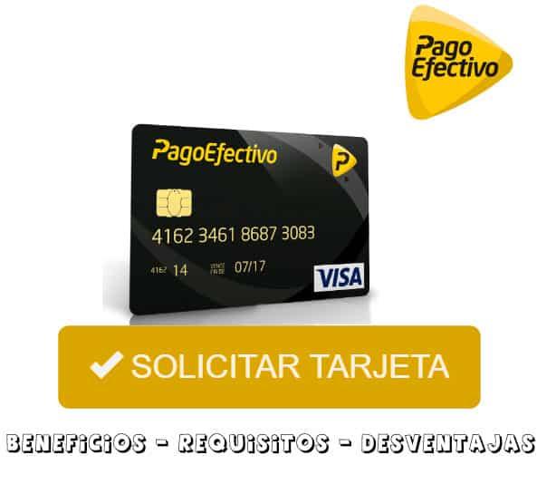 solicitar tarjeta pagoefectivo visa