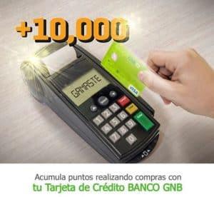 beneficios, puntos y Programa de Recompensas delBanco GNB